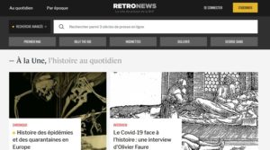 RetroNews, le site de presse de la BnF